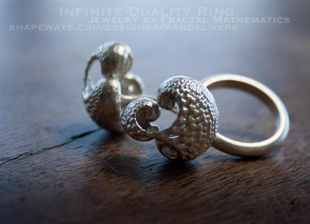 Infinite Duality Ring by MANDELWERK