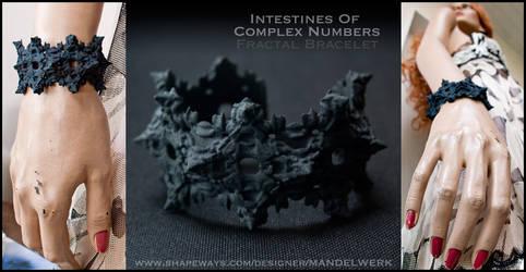 3Dprinted Fractal Bracelet - Intestines of C.N.