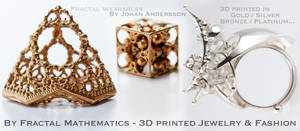 3D printed Jewelry - By Fractal Mathematics