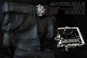 MANDELBULB BELT BUCKLE - 3D printed in STEEL