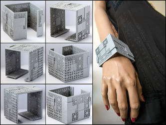 Menger Matrix Cuff Bracelet - 3D printed fractal