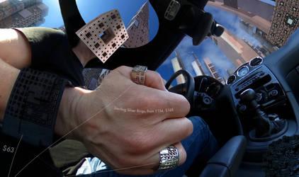 Menger City Cruise - 360 Degree Fractal Scenery