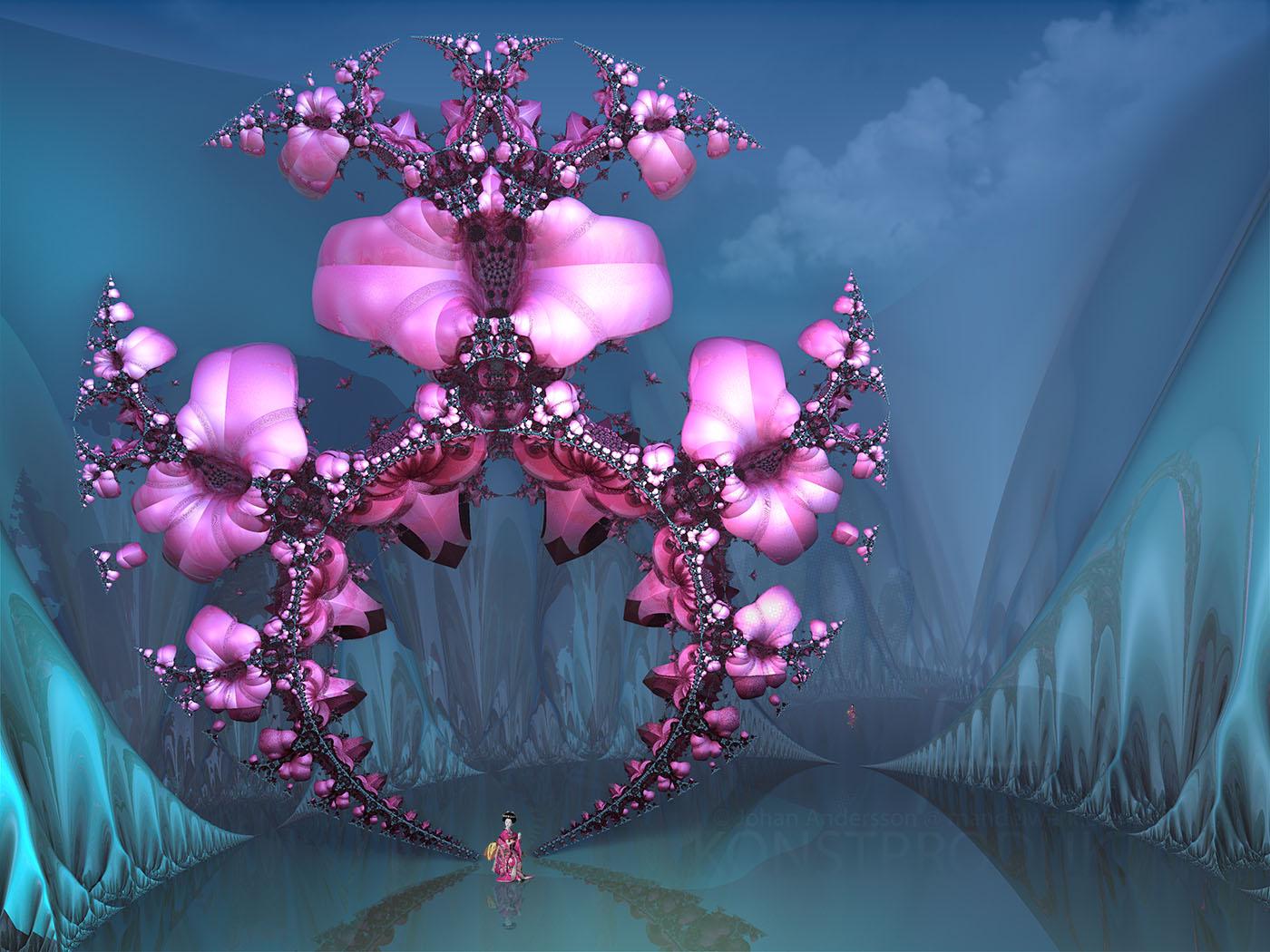 Geishas Cherry Blossom Tree - at the Ecstasy... by MANDELWERK