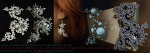 Seahorse Dragon Earrings - Keinian Fractal by MANDELWERK