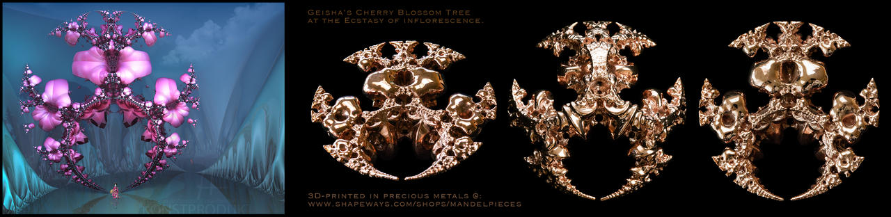 Geishas Cherry Blossom Tree Pendant