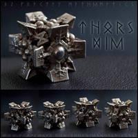 Thors Die D6+8 - 3D Printed in Steel