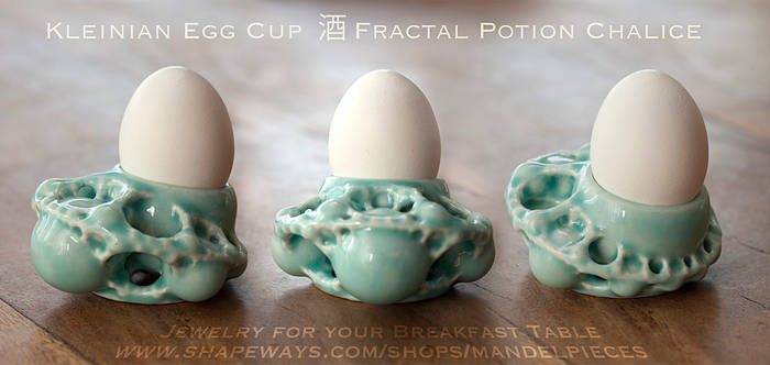 Kleinian egg cup - 3D printed in Ceramics