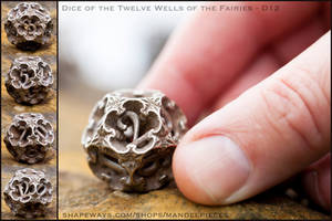 Dice of the Twelve Wells of the Fairies - D12 by MANDELWERK