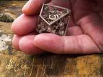 Dice of Hydra D10 - 3D printed in STEEL