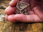 Dice of Hydra D10 - 3D printed in STEEL by MANDELWERK
