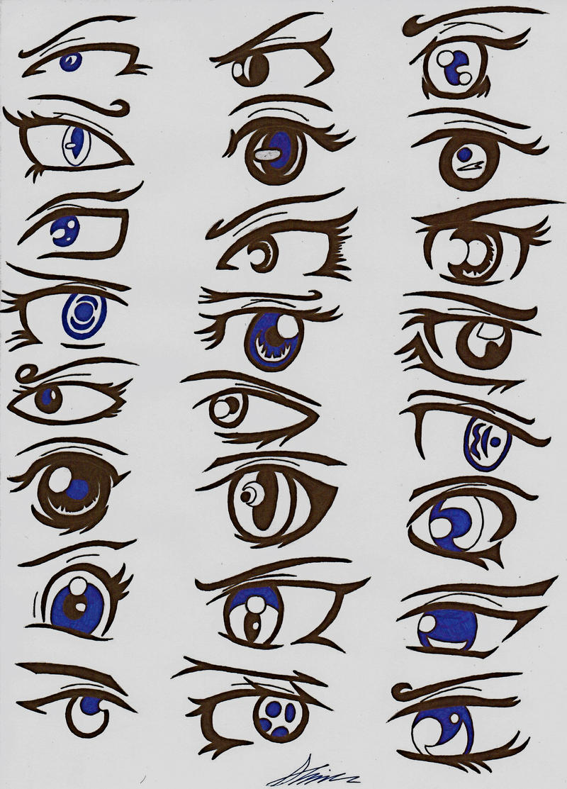 Anime/Manga Eyes by Sugar-Ray