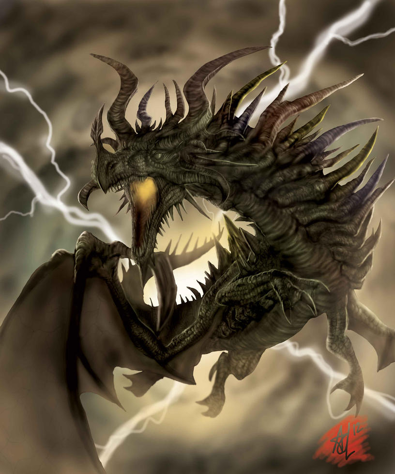 Elder Dragon Highlander by Trevone