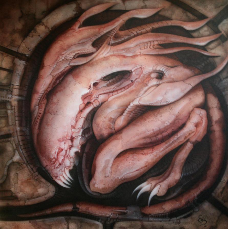 alian snake by EdSchaap