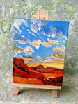 Tiny canvas painting