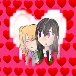 Yuzu x Mei (Valentines Art Requests) by MagicRainbowOfChica