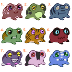 5 Point Frog Adopts (Open) by SparrowWrightheart