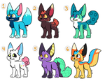 Foxes Adopts (Open) by SparrowWrightheart