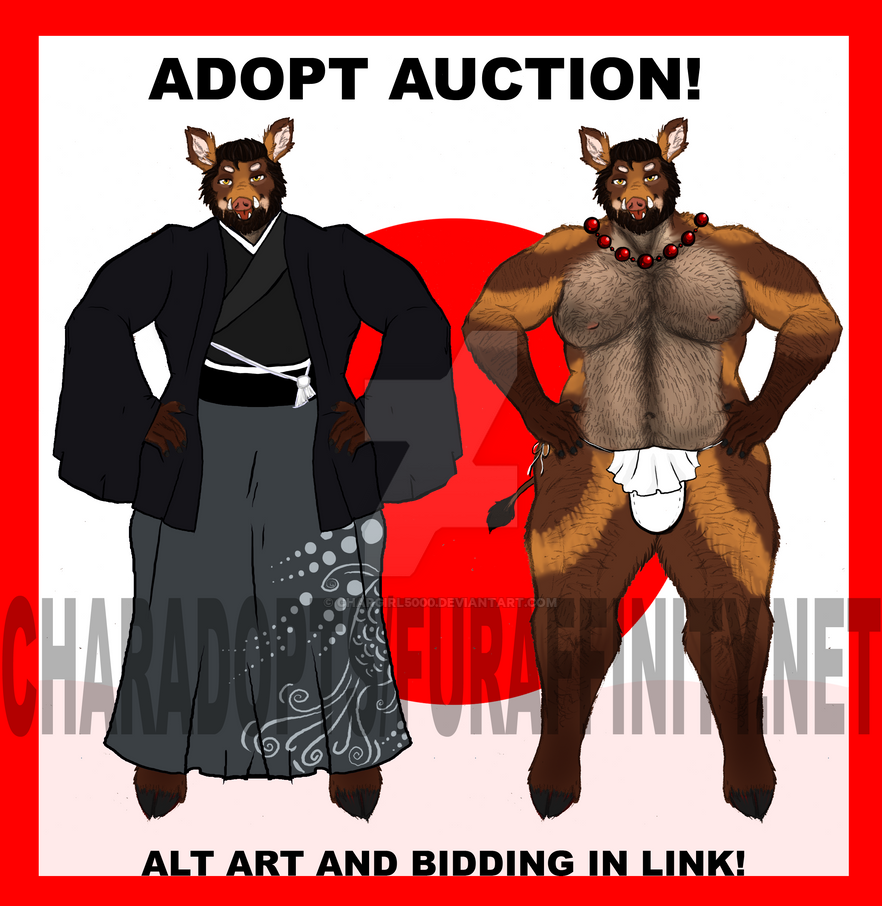 Senpai Boar Auction AD by chargirl5000