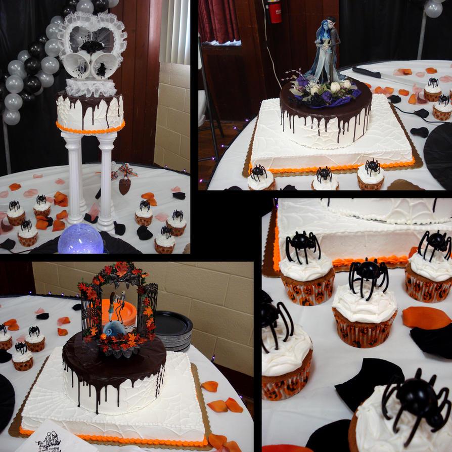 Lit Wedding Cake Stands