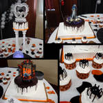 Halloween Wedding Cake by Erisana