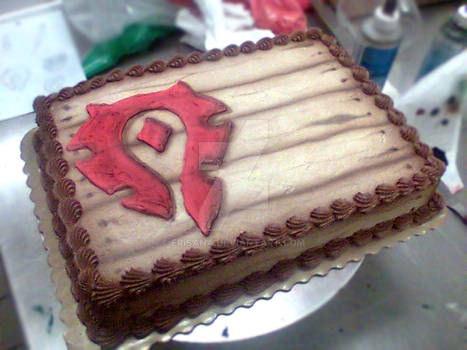 WoW Horde Crate Cake