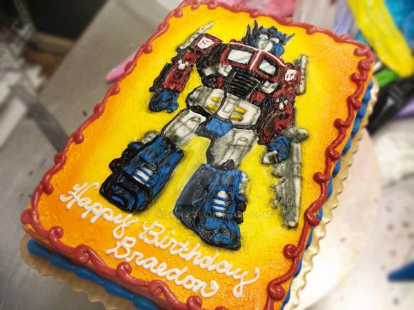 Megatron Birthday Cake