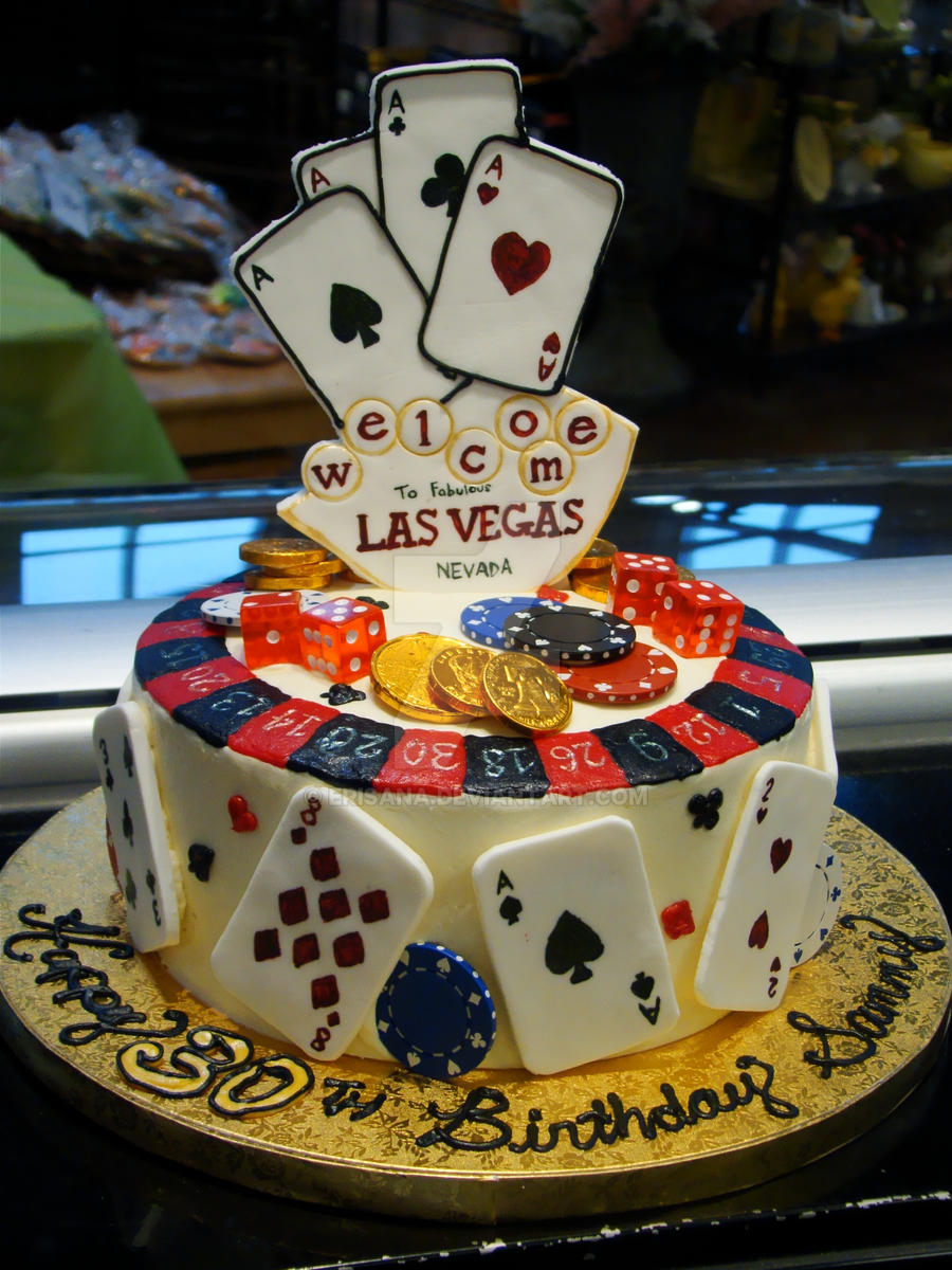 Las Vegas Birthday Cake by Erisana on DeviantArt