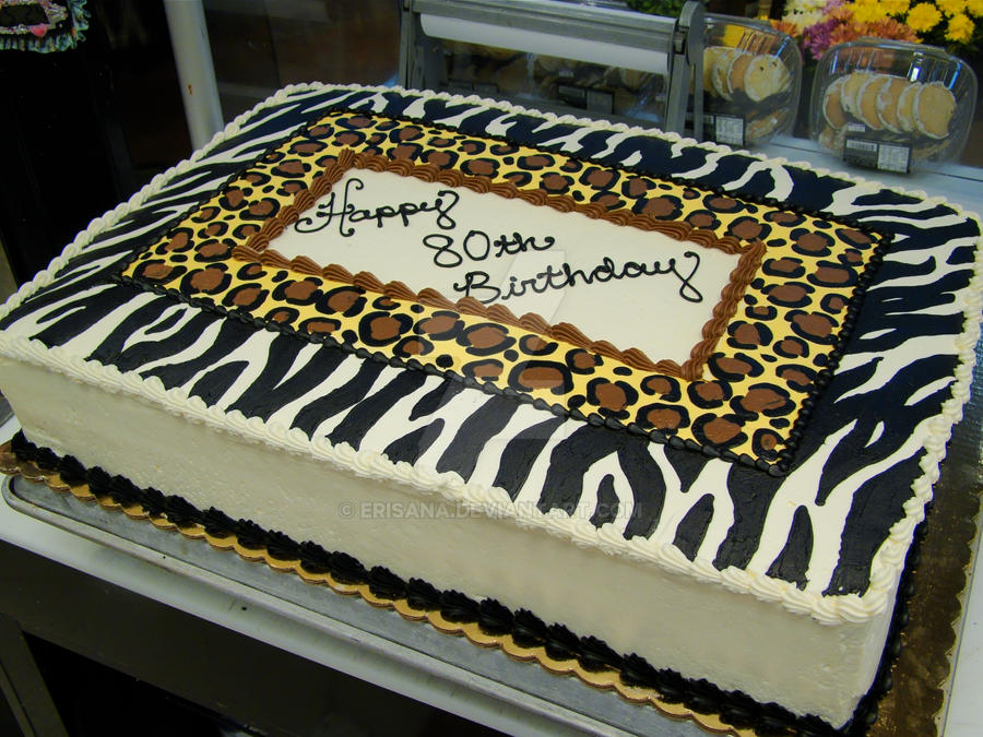 Animal Print Birthday Cake by Erisana on DeviantArt