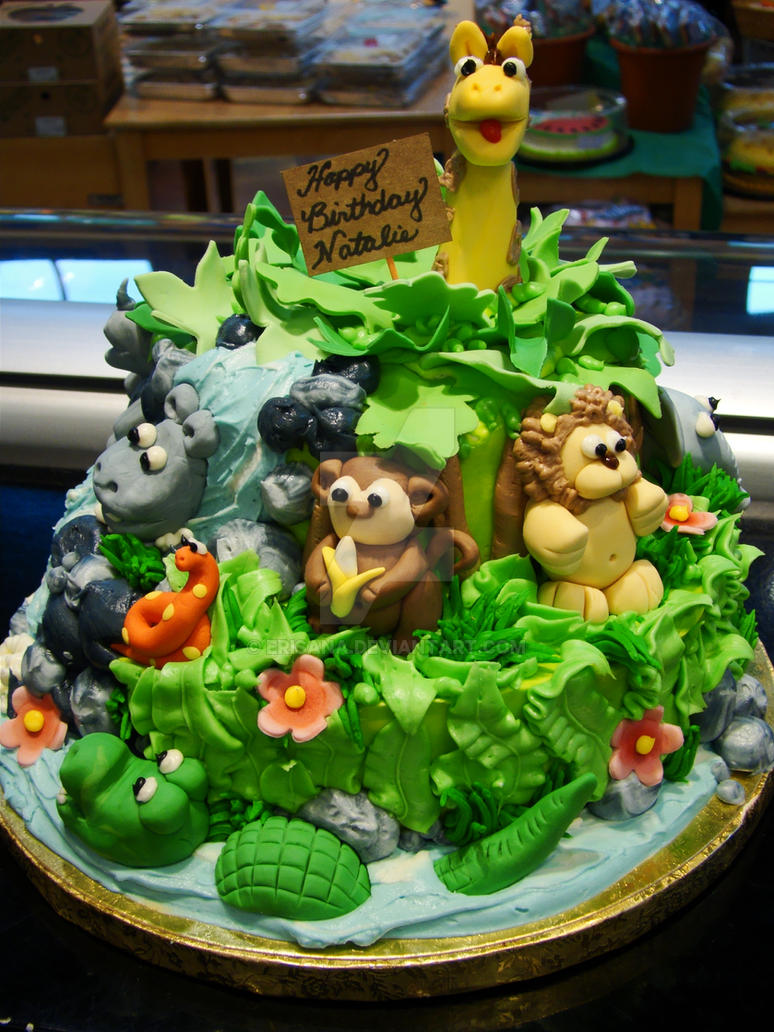 Jungle Animal Cake By Erisana