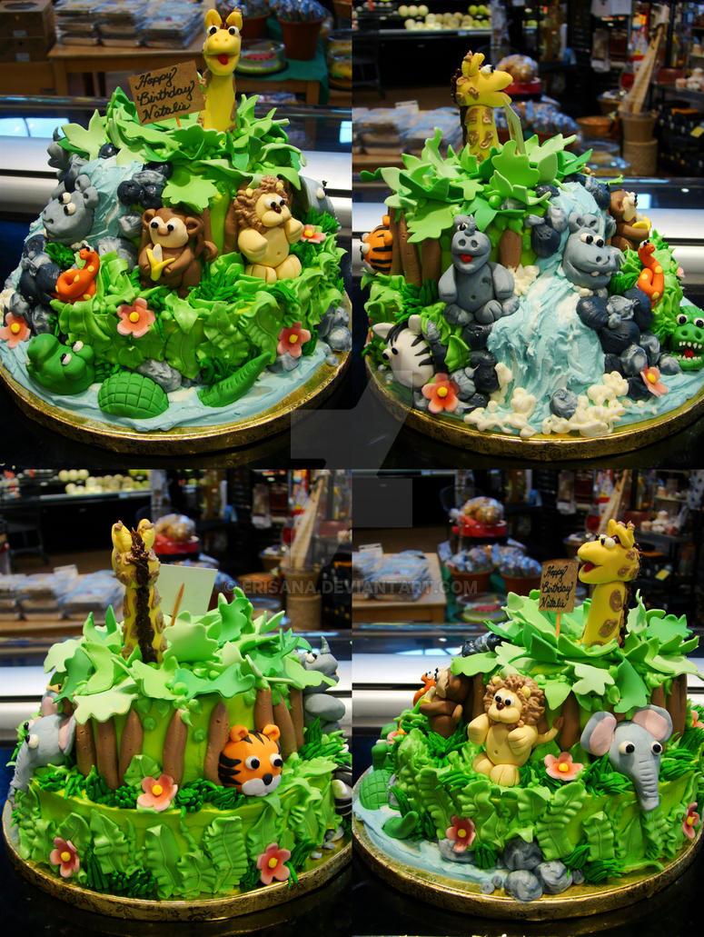 Jungle Animal Cake Decorating Ideas