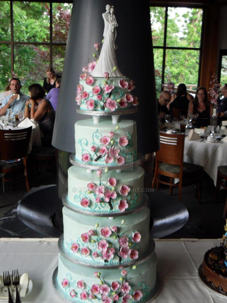 Cherry Blossom Wedding Cake by Erisana
