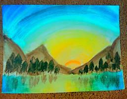 Watercolour Sunset