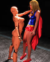 Supergirl - Android Threat 1 by Transformerman