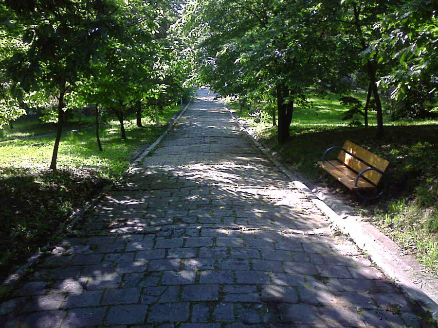 Paintings Of Cobblestone Paths : Stone path by therameel on deviantart