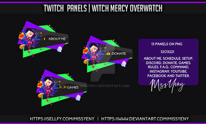 Overwatch Mercy Witch Panels Twitch by MissYeny
