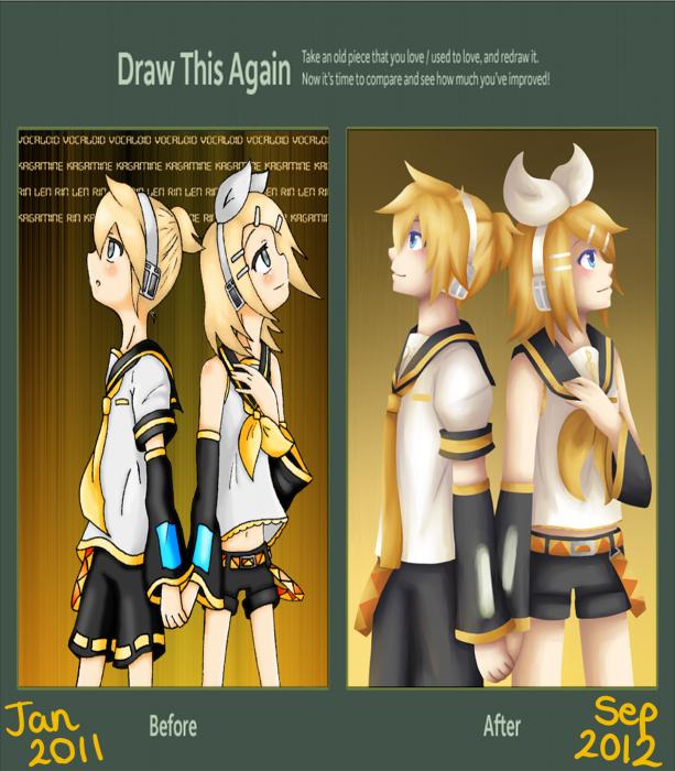 Draw This Again Meme: Kagamine by lolitaii