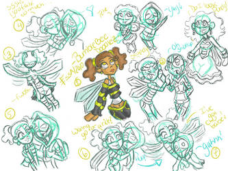 Teen Titans- BumbleBee Doodles by o0Essa0o