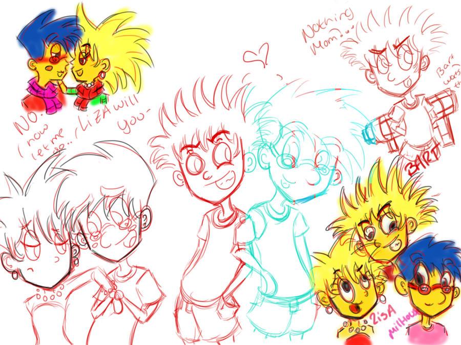 Simspons doodles by o0Essa0o