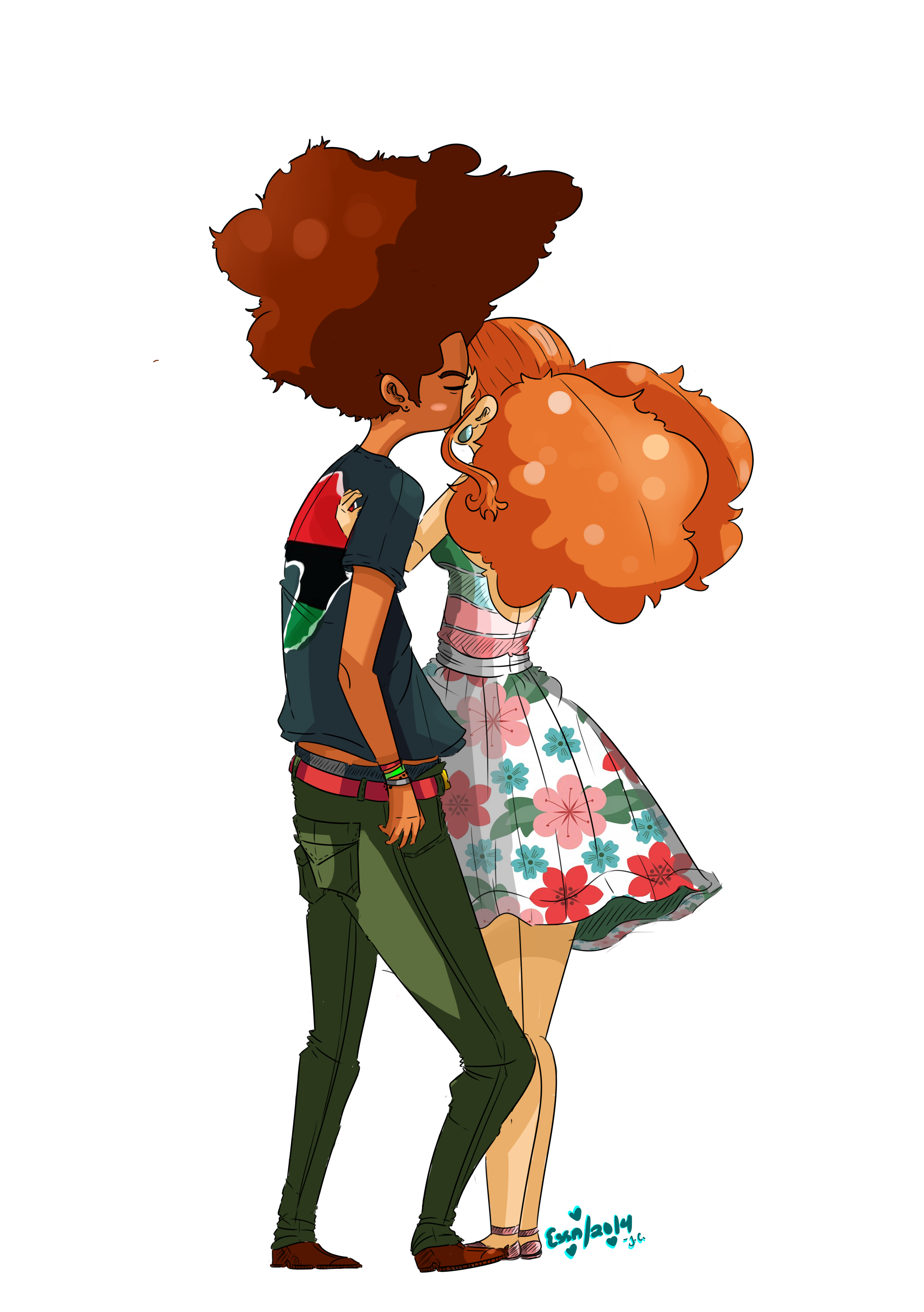 huey and jazmine by o0essa0o on deviantart
