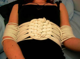 Rope Underbust and Arm binding by gnomeofmaille