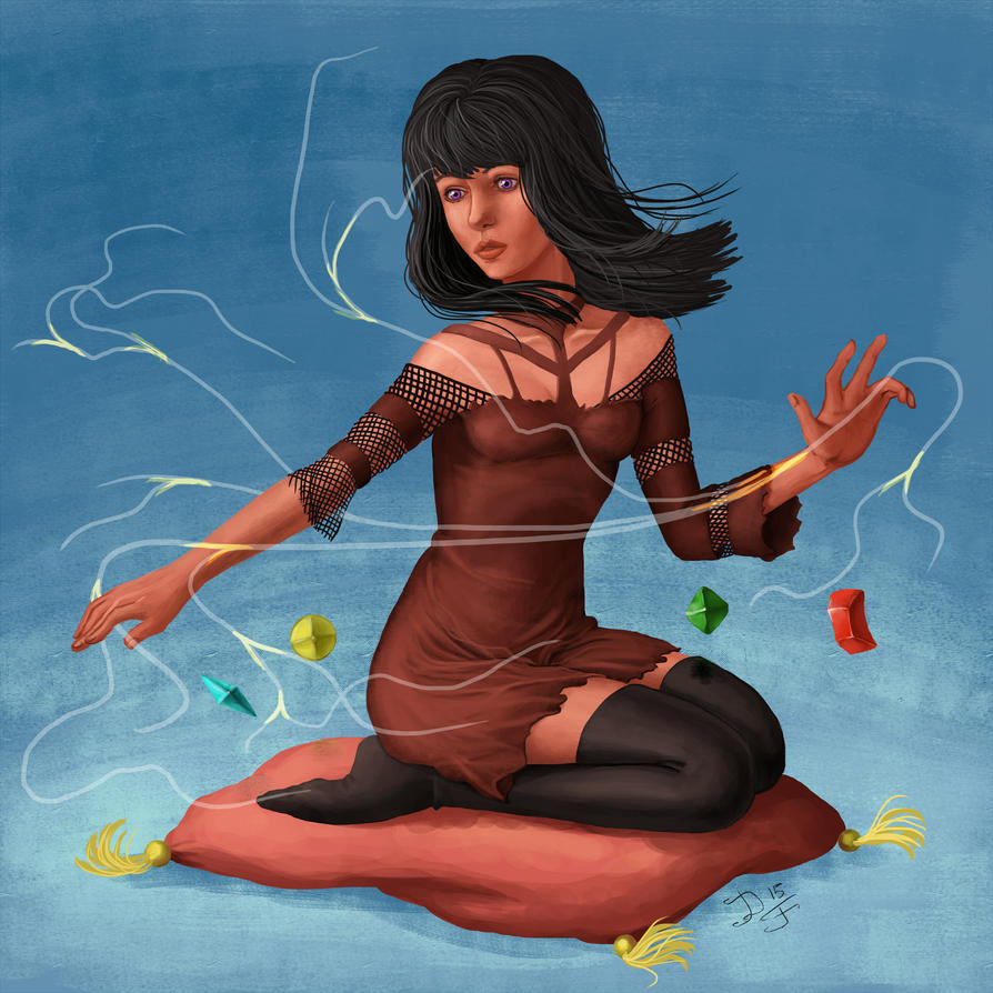 Witch Sasha and magic by Duran-F
