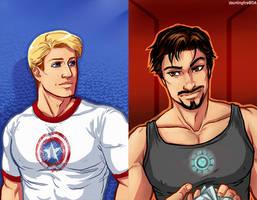 Steve Rogers + Tony Stark by dauntingfire