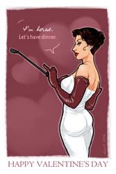 The Woman: Sherlock VDAY Card 4 by dauntingfire