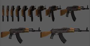 Dead frontier AK 47 Back 3Q L back view