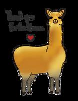 Thank you ! Llama Llama Llama