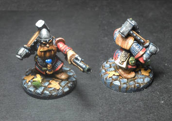 Dwarfen mercenary for Frostgrave by Ludwig1920