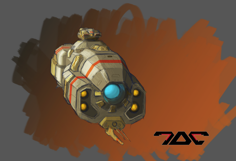 Random ship sketch by Aldeminor