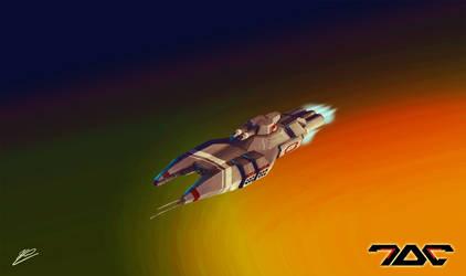 Missile gunship sketch by Aldeminor