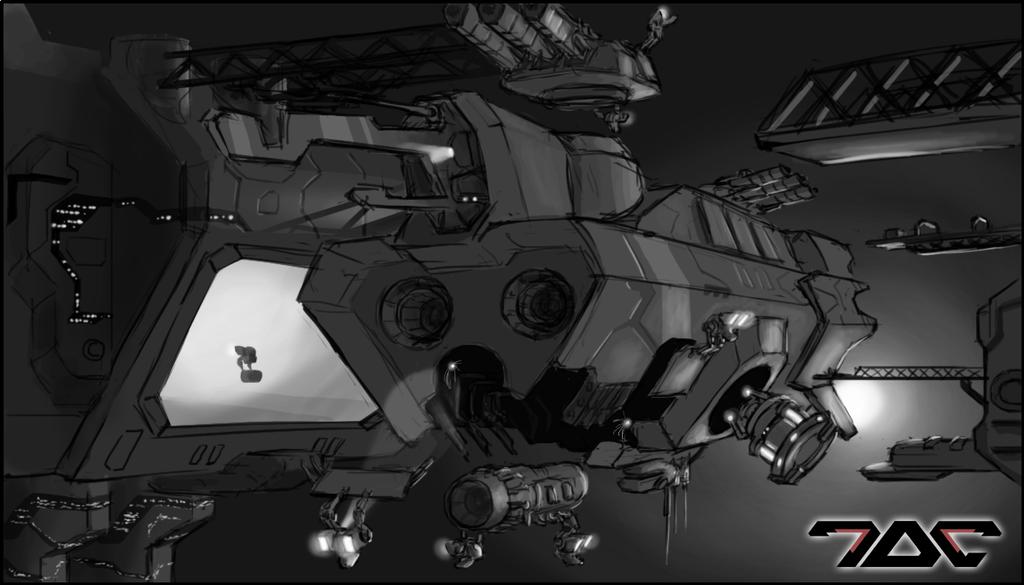 Project Coreward - sketch_01 by Aldeminor