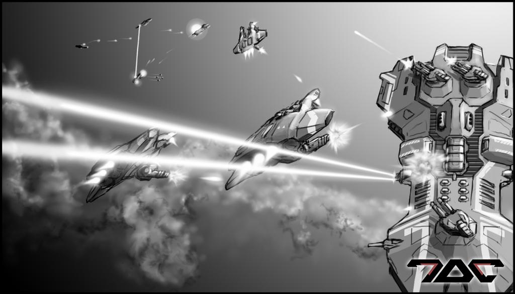 Project Coreward - sketch_03 by Aldeminor